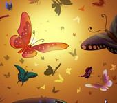 3D Цвет, Цветы и Бабочки.