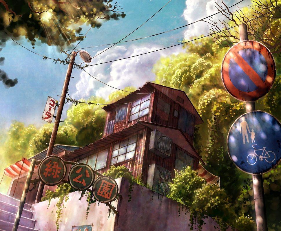 Подборка пейзажей из аниме-12
