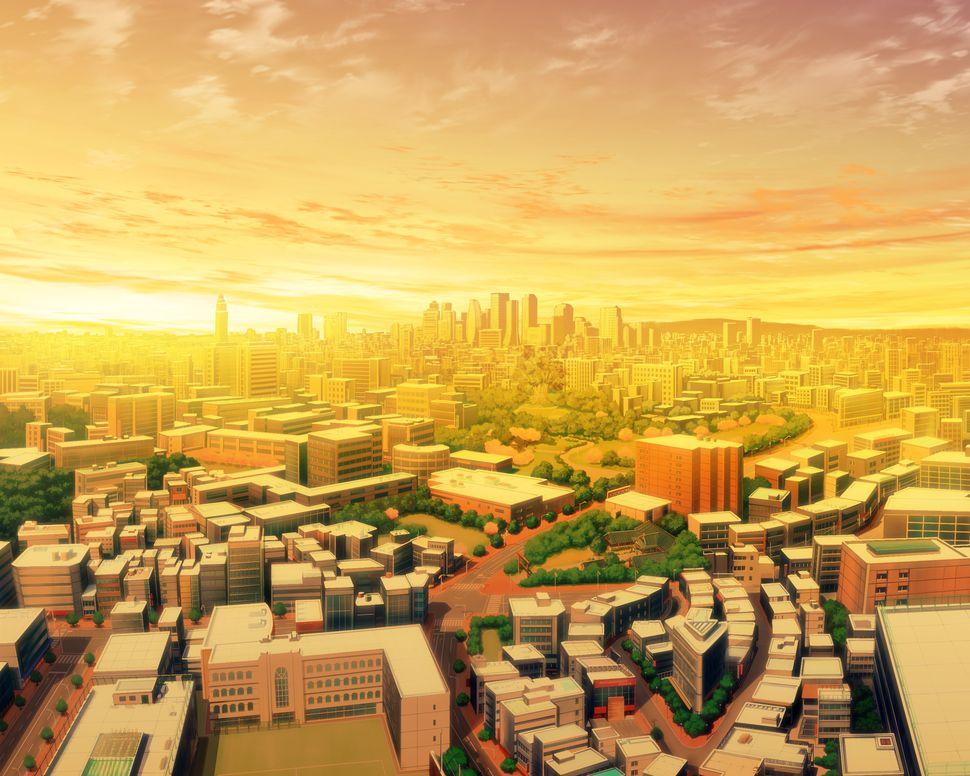 Подборка пейзажей из аниме-13
