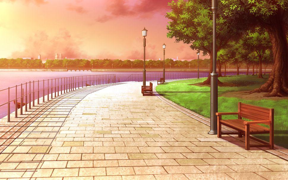 Подборка пейзажей из аниме-14