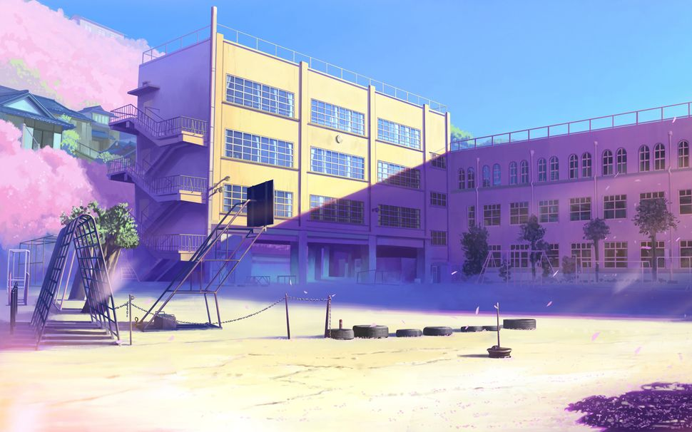 Подборка пейзажей из аниме-16