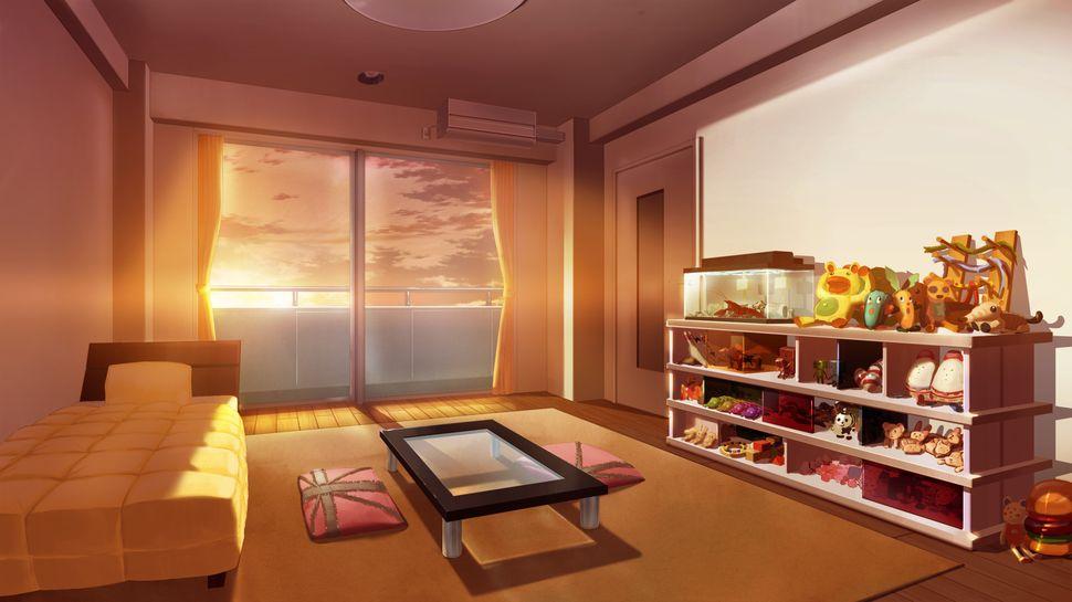 Подборка пейзажей из аниме-20