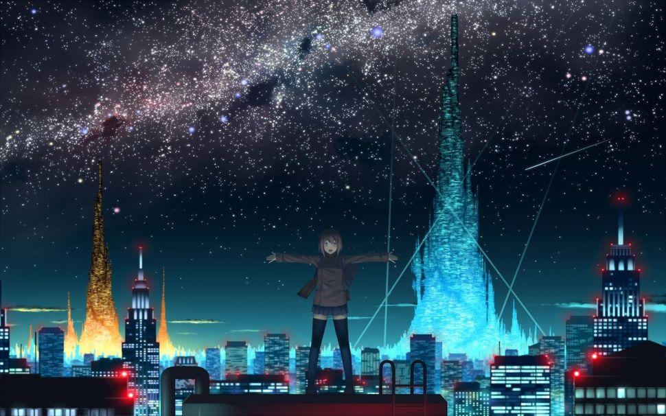 Подборка пейзажей из аниме-21