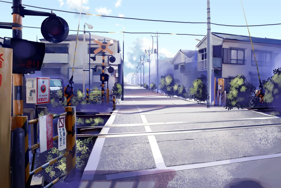 Подборка пейзажей из аниме-22