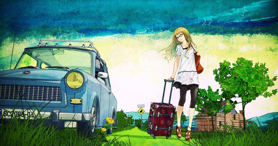 Подборка пейзажей из аниме-24