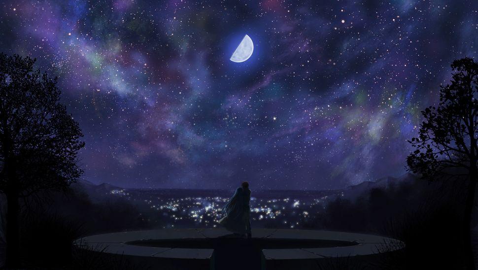 Подборка пейзажей из аниме-26