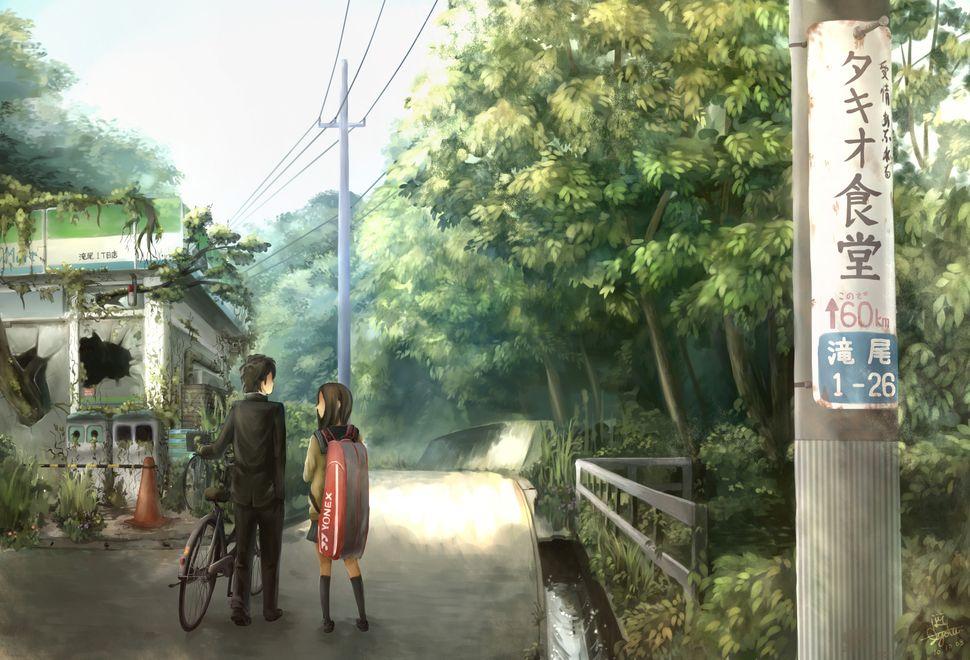Подборка пейзажей из аниме-4