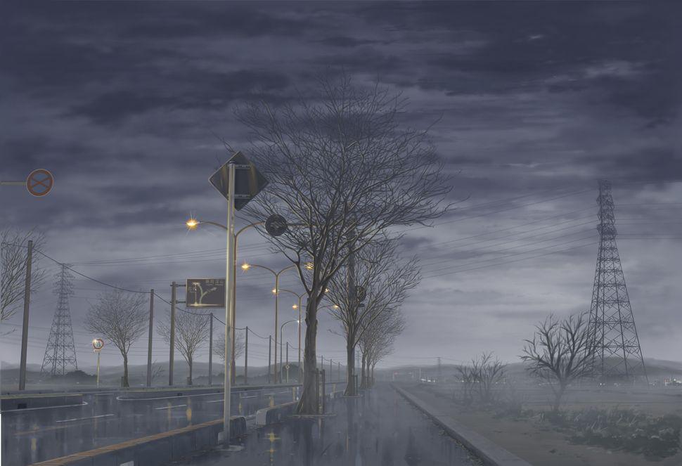 Подборка пейзажей из аниме-8