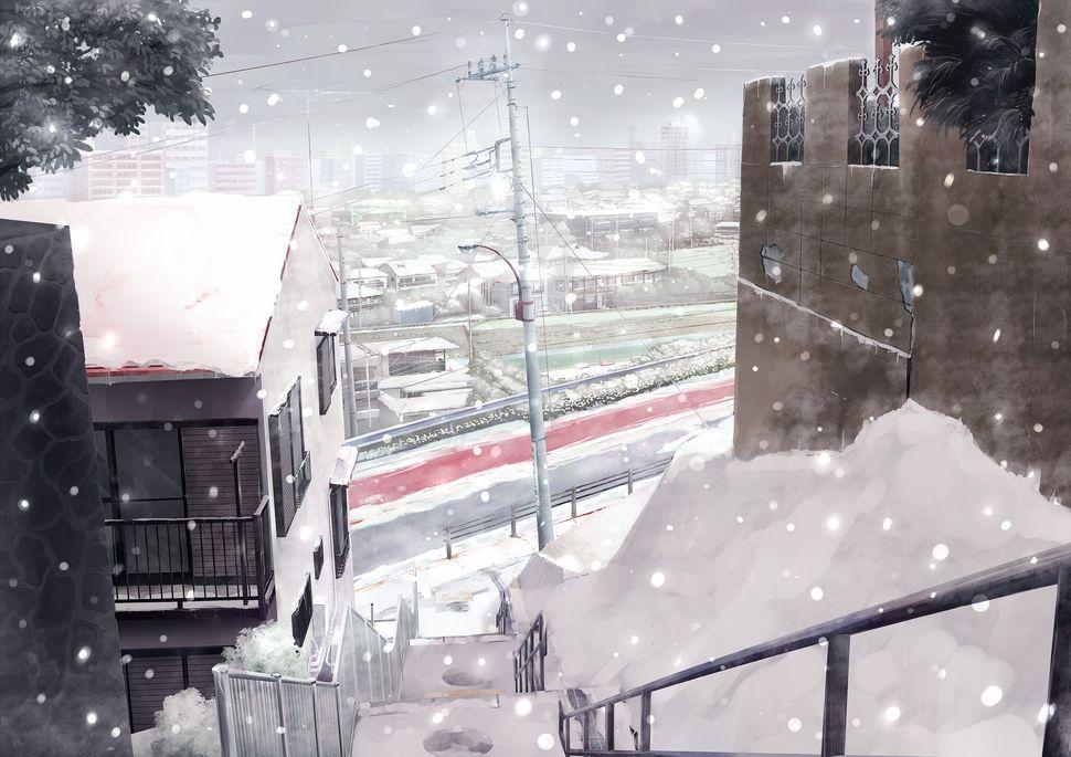 Подборка пейзажей из аниме-9
