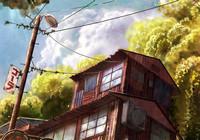 Подборка пейзажей из аниме
